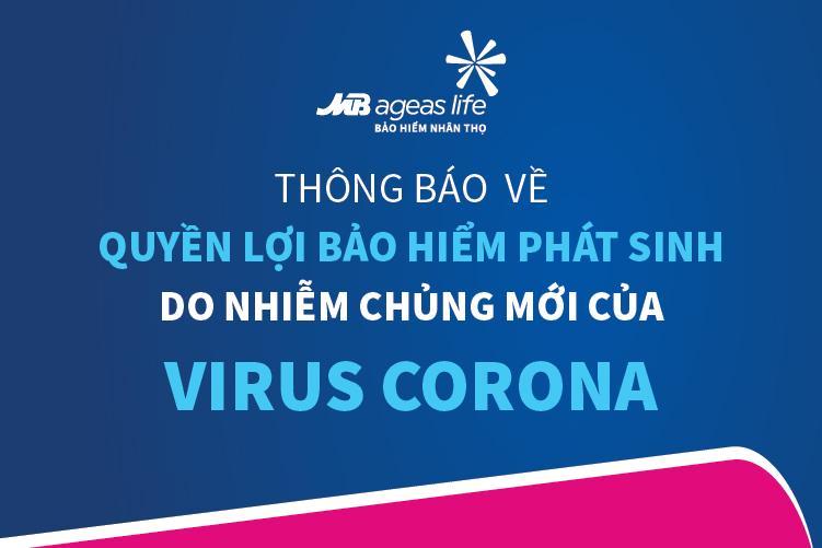 Thông báo về quyền lợi bảo hiểm phát sinh do nhiễm chủng mới của Virus Corona (2019 - nCoV)