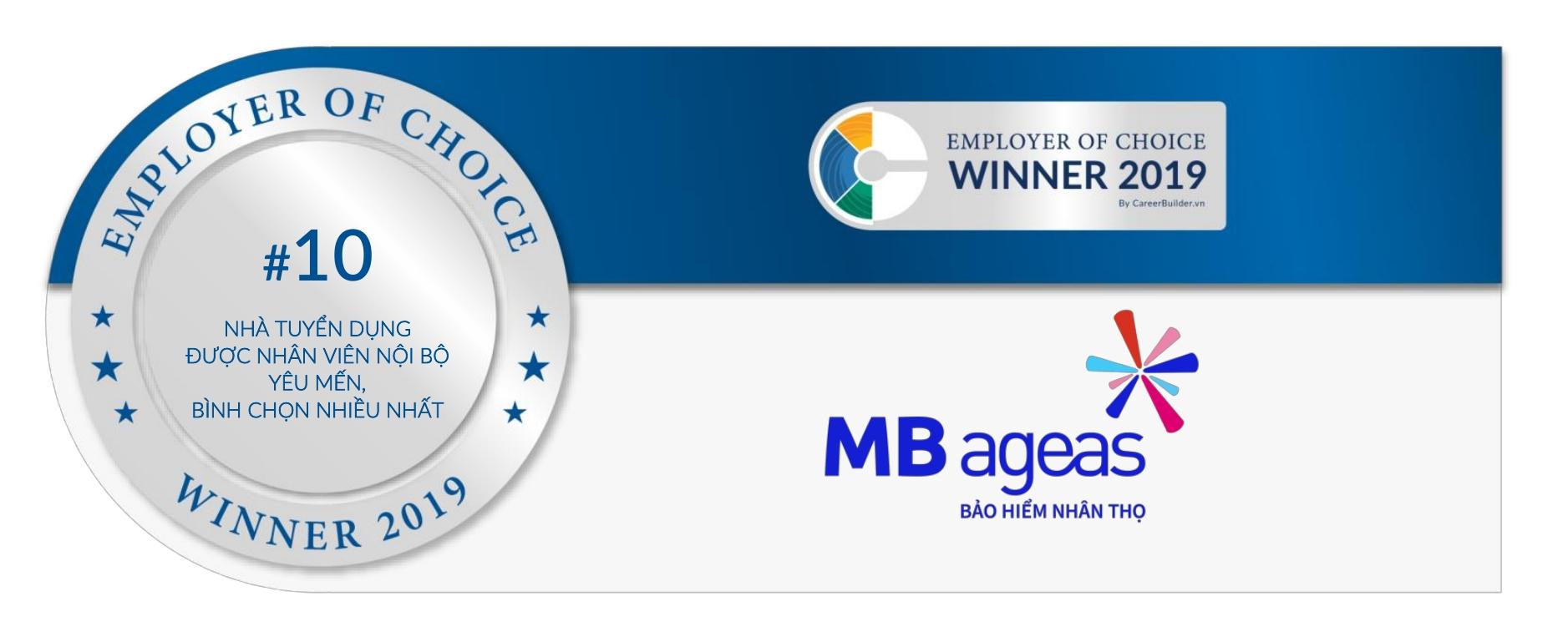 MB Ageas Life lọt vào Top 100 nhà tuyển dụng yêu thích tại Việt Nam