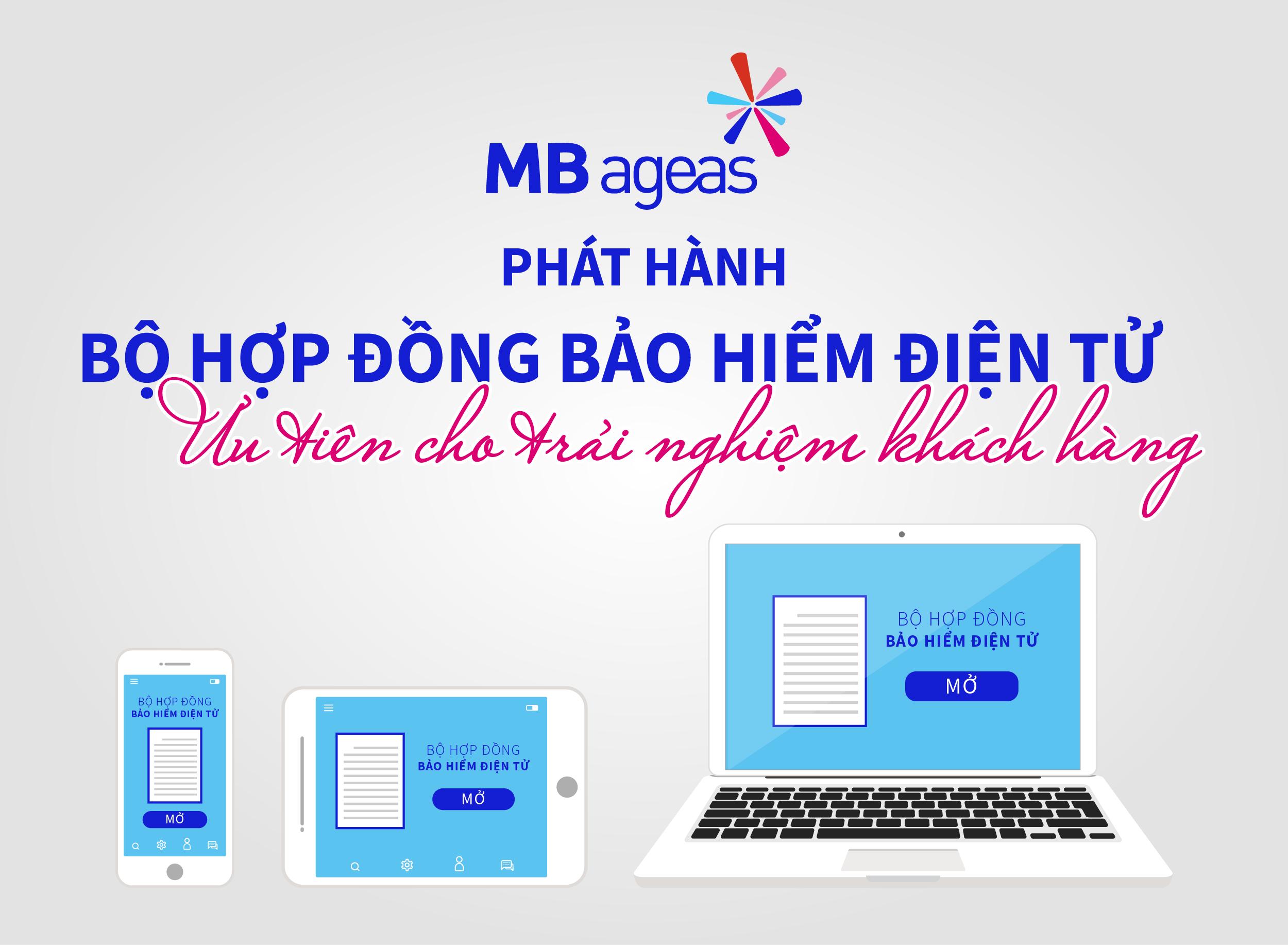 MB Ageas Life nâng cao trải nghiệm khách hàng bằng E-app và E-policy
